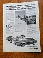1973 Ford Maverick Ad Coupe Sedan & Grabber 10,000 feet up in the Rockies