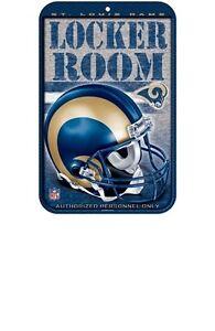 "St. Louis Rams Official Team Logo 11"" x 17"" Plastic Locker Room Sign"