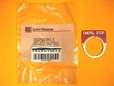 Cutler Hammer  Emergency Stop Panel Tag  10250TM13