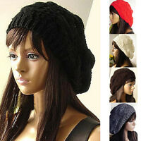 New Mens Ladies Knitted Woolly Winter Oversized Slouch Beanie Hat Cap Skateboard