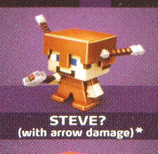 Sealed 2015 STEVE? Arrow Damage MINECRAFT Obsidian Series 4 Mini-Figure - NEW!