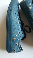 Men's/Womens Converse All Star Size 9 Blue Suede Studs Worn Once Indoors