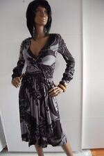 BNWT GREAT PLAINS  PRINTED FIT& FLARE LONG SLEEVE DRESS SIZE M 12 RRP £69