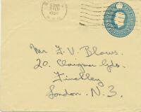 GB BRISTOL / NDO machine pmk very fine used GVI 2 ½ D blue postal stationery env
