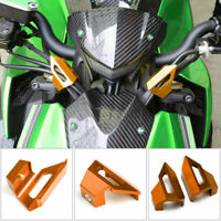 CNC Front Brake Clutch Line Hose Clamp Holder Orange For Kawasaki Z1000 10-16 A0