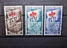 ITALIA REPUBBLICA 1951 FESTA E CONCORSI GINNICI A FIRENZE SERIE TIMBRATA (CAT.X)
