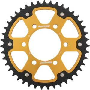 Supersprox Motorcycle Rear 520 Stealth Dual Sprocket 43T Gold RST-478-43-GLD