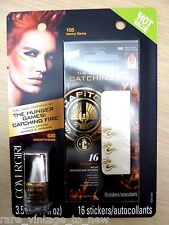 NEW Hunger Games SEARED BRONZE Nail Duo Polish Decals Costume Cosplay CoverGirl