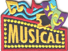 """""""MUSICAL"""" PATCH /Iron On Embroidered Patch Music Show Singing"""