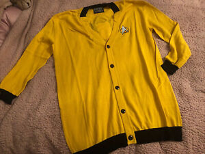 mens OFFICIAL Star Trek - Yellow Mustard Top Novelty Cardigan - Size XL - new