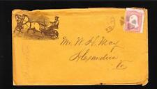 Baltimore Farm Implements Horses 1860s W.H. May Alexandria Virginia z82