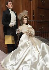 "Franklin Mint GIBSON GIRL BRIDE and GROOM 22""  23""  Porcelain COA and Tags"