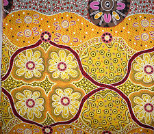 Women's Business Aboriginal Australian Design Quilting Fabric 1/2 metre
