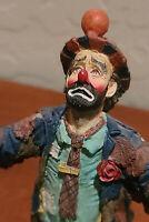 "1991 Clown Emmett Kelly ""Gimme a Break"" with Wood Base ~ HTF @ 7"" H ~ Limited Ed"