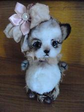 Hedgehog  ~  Plush & Mohair, glass eyes~  by Victoria Ivanova of Russia