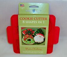 Christmas/Winter Cookie Cutter Plaque ~ Nordic Ware ~ 8 Shapes In One Cutter!