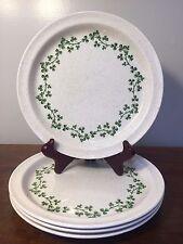 Arklow Ireland WILD SHAMROCK  Brendan Salad Plates ~ Set of 4