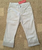 American Girl Girls Size 14 Gray Isabelle Crop Capri Denim Gray Pants Sparkle