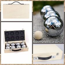 New 8 Ball Bocce / Boule / Petanque Ball Set with Carry Box- 4 Patterns/4Teams
