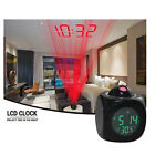 Multifunction Vibe LCD Talking Projection Alarm Clock Time Temperature Display