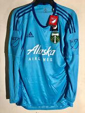Adidas Women's MLS Long Sleeve Jersey Portland Timbers Team Lt Blue sz 6