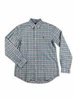 Ralph Lauren Polo Mens Oxford Plaid Colorful Pony Logo Button Down Shirt New