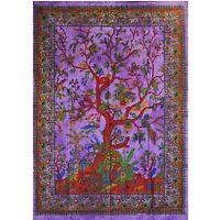 Wandbehang, LEBENSBAUM- Wandbild,Baum des Lebens,Textil-Bild, 80 x 110 cm Lila