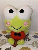 "VGUC-10"" Kero Keroppi Sanrio Smiles Large Plush Stuffed Toy Doll japan"