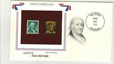 Paul Revere 1965 Stamp with 22 kt Gold Replica (SC# 1059)
