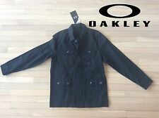 Small Oakley Jet Black Shaket Heavy Long Sleeve Work Shirt Punk Skate Sup Style