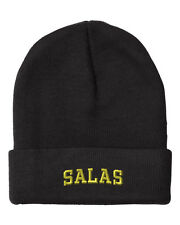 SALAS LAST NAME Embroidery Embroidered Beanie Skull Cap Hat