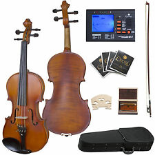 "16"" CECILIO CVA-500 VIOLA EBONY FITTED SOLIDWOOD+CASE"