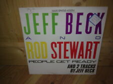 """JEFF BECK and ROD STEWART people get ready 12"""" MAXI 45T"""