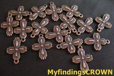 50PCS Antiqued copper ornate cross charms 18x13mm FC95