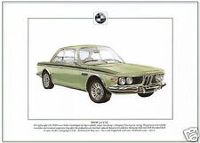 BMW 3.0 CSL  Fine Art Print - A4 size picture / poster Lightweight German Saloon