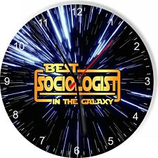 Best Sociologist in the Star Galaxy Space Kitchen Living room Wall Clock