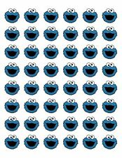 "48 COOKIE MONSTER ENVELOPE SEALS LABELS STICKERS 1.2"" ROUND"