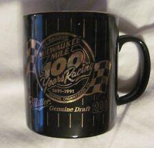 MILLER MILWAUKEE MILE CAR RACING NASCAR 1891-1991 Commerative Ceramic  MUG RARE