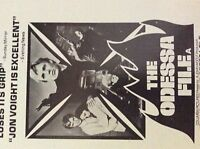 m9-9m ephemera 1970/s film advert the odessa file jon voigt thriller