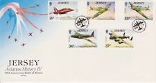Unaddressed Jersey FDC Cover 1990 Aviation History IV Battle of Britain