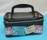 Vintage Hasbro Doll or Small Child Size Suitcase Bag Purse w Travel Stickers SHP