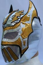 26.-ADULT -SIN CARA SILVER- LYCRA -WITHOUT LACE UP BACK NO ZIPPER-WRESTLING MA