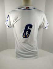 2019 Omaha Storm Chasers #6 Game Used White Jersey