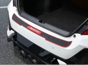Car Rear Bumper Rubber Guard Anti-scratch Protector Non-slip Pad Cover Black&Red