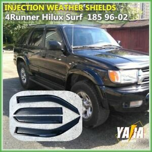 INJ Weather Shields Weathershields for Toyota 4Runner Hilux Surf 185 1996-2002