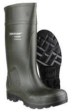 Stivali da lavoro Dunlop Purofort professionale completa sicurezza Verde scuro S