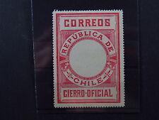 stamp Chile Republica de Chile Correos CIERRO OFICIAL Chili *