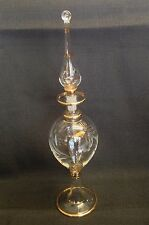 Egyptian Glass Perfume Bottle Rare COLLECTABLE Exquisitely Etched