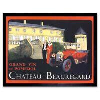 Advert Wine Vin Chateau Beauregard 12X16 Inch Framed Art Print