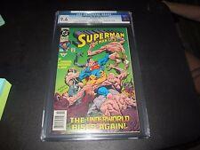 SUPERMAN: MAN OF STEEL #17  1ST EVER DOOMSDAY  NEW BATMAN/SUPERMAN MOVIE CGC 9.6